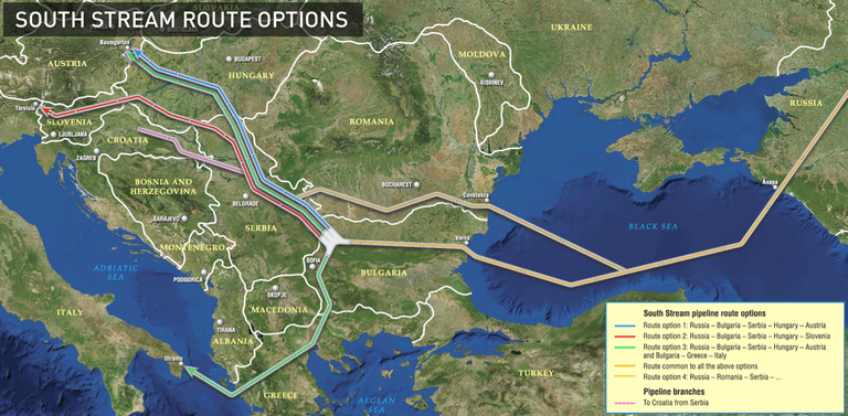Bulgaria Halts Work on South Stream Gas Pipeline : Cup & Cross